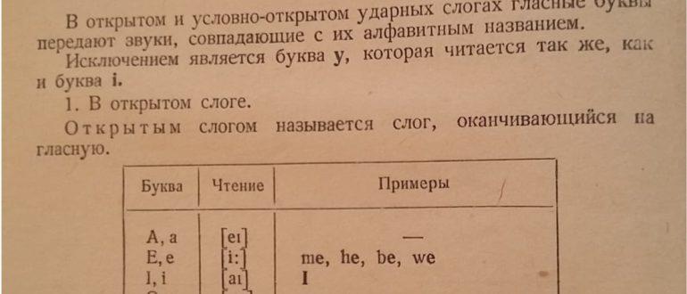 транскрипция в английском языке